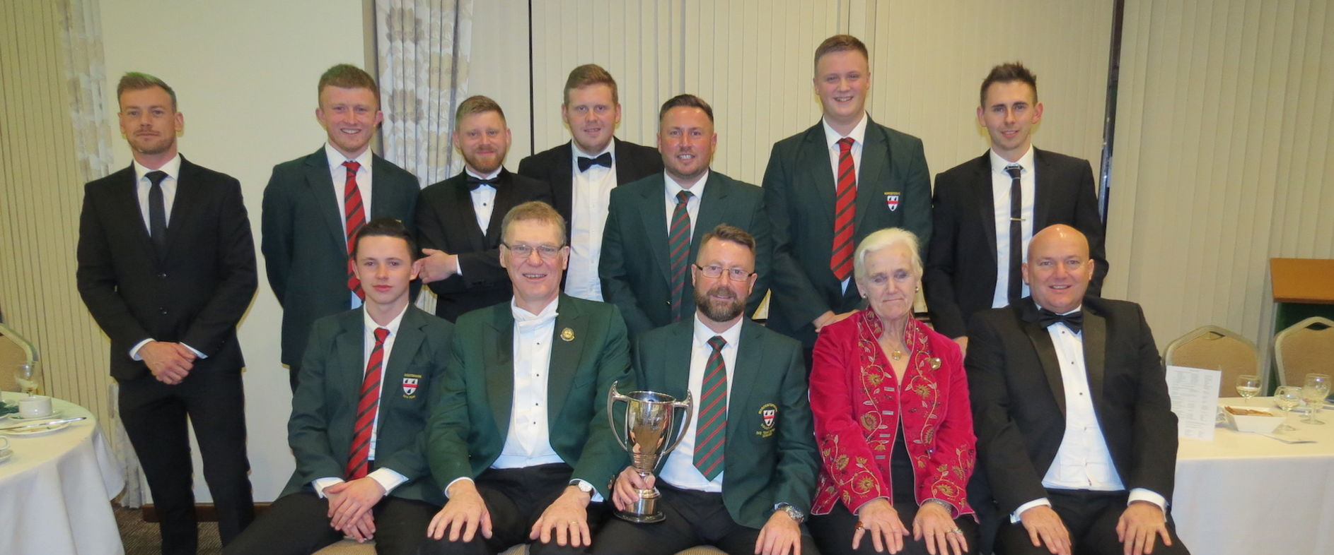 WM League Champions, The County 2nd Team, celebrate their victory at the County Dinner 17.1.20