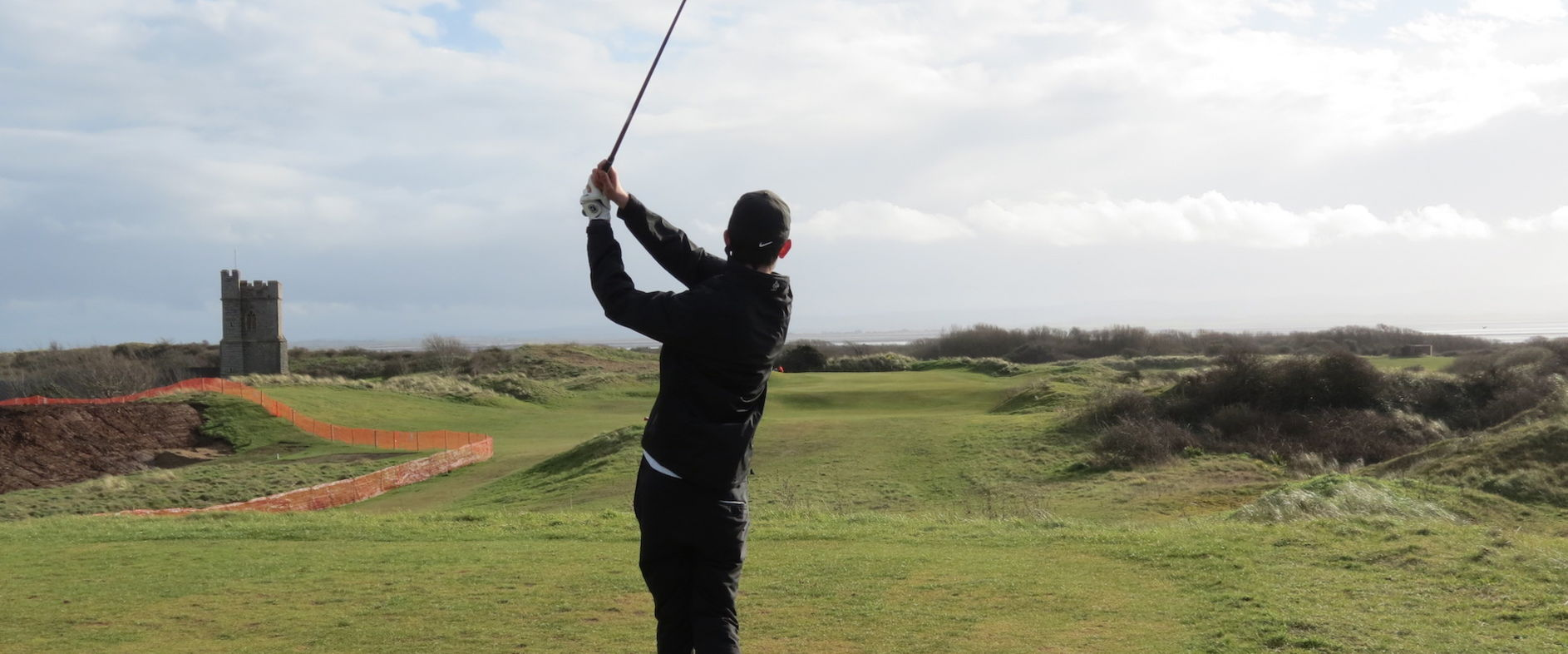 Tom Blizzard birdies the 205 yd 12th with a superb tee shot to 10ft - 15.3.20 Burnham & Berrow