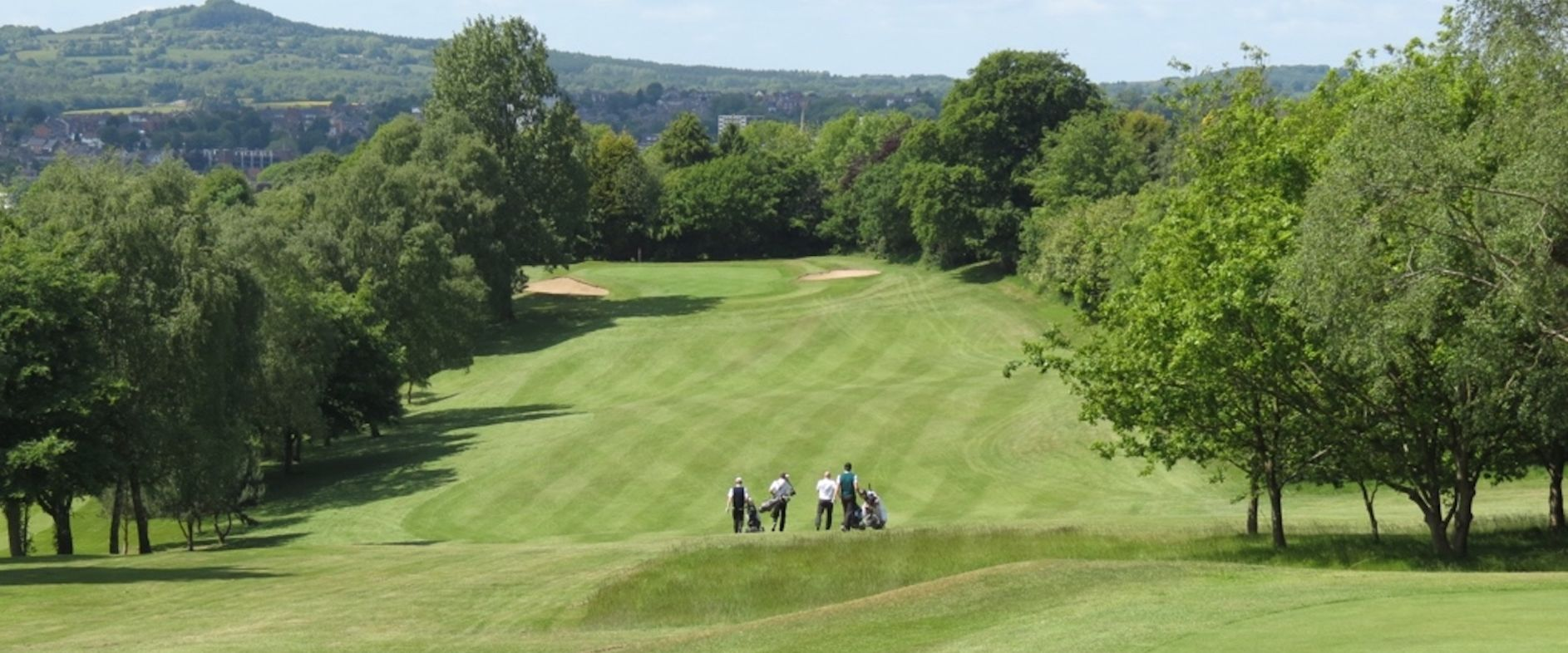 Halesowen GC overlooking the Clent Hills