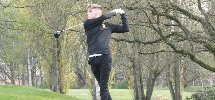 County players in action - Aaron Bryan (Worcs G&CC)